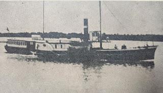 """Vapor """"Estrella"""", em 1857."""