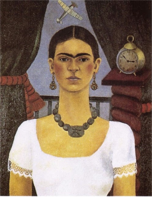 Autorretrato - O Tempo Voa - Frida Kahlo e suas pinturas ~ Pintora comunista e revolucionária