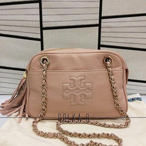 2b25c45572b Tory Burch Thea Crossbody Chain Bag - Porcelain Pink | Polka B ...