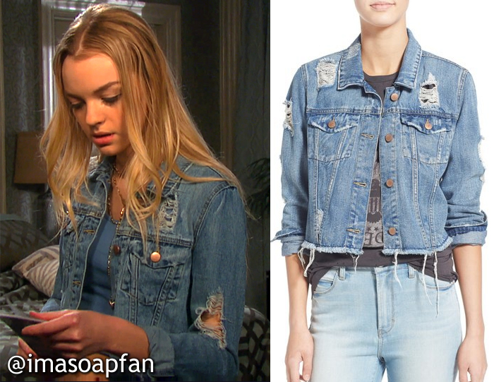 Claire Brady's Distressed Denim Jacket - Days of Our Lives, Season 51, Episode 08/22/16
