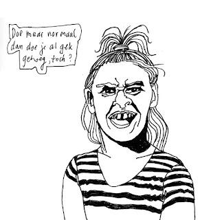 Volwassen Kleurplaten Voor Meisje Barbara Van Den Berg Tekening Meisje
