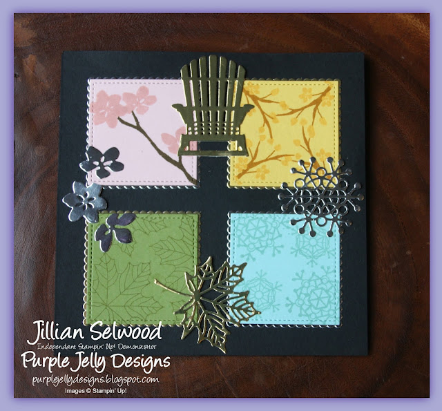 Colourful Season Stamp Set, Easel card, All 4 seasons in one card
