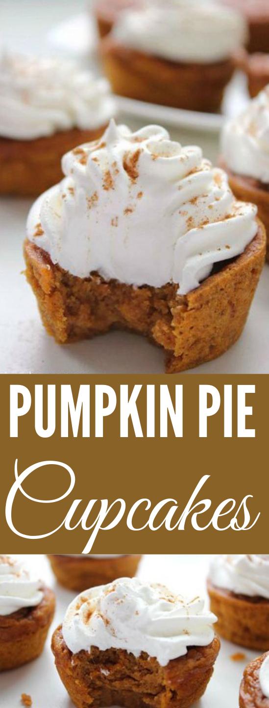 PUMPKIN PIE CUPCAKES #dessert #cakes