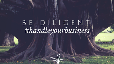 Handle your Business - Be Diligent