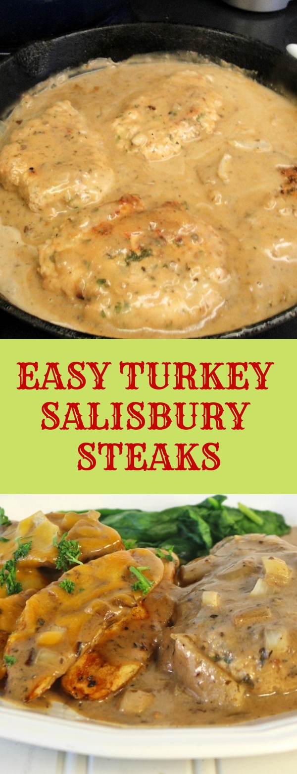 EASY TURKEY SALISBURY STEAKS #STEAKS #DINNER #EASYRECIPES