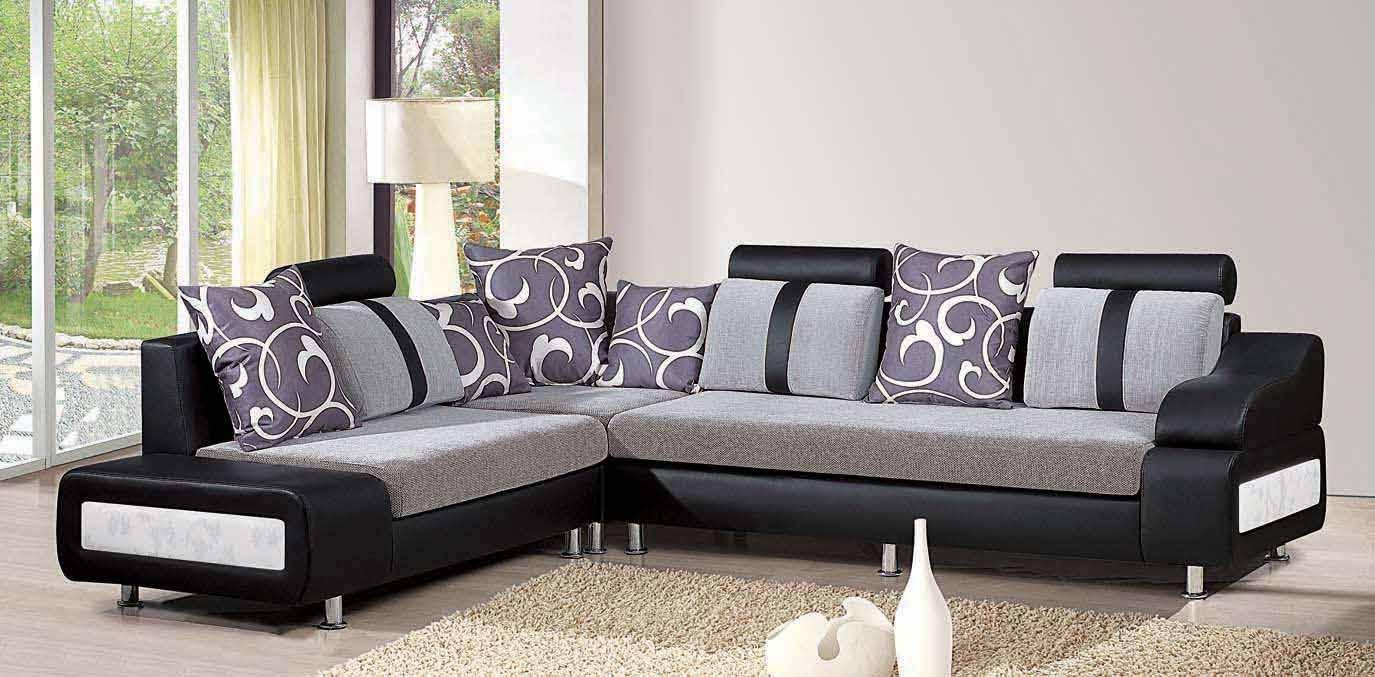 Sofa Dengan Paduan Warna Hitam Abu Abu Ungu Dan Putih Wajib Baca