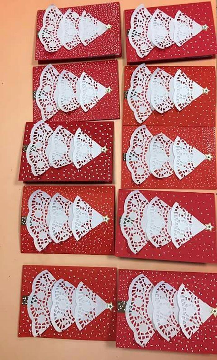 Decorar con blondas de papel en Navidad