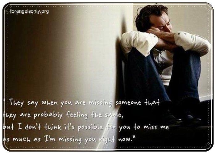 Sad I Miss Him Quotes: Sad Quotes About Missing Him. QuotesGram