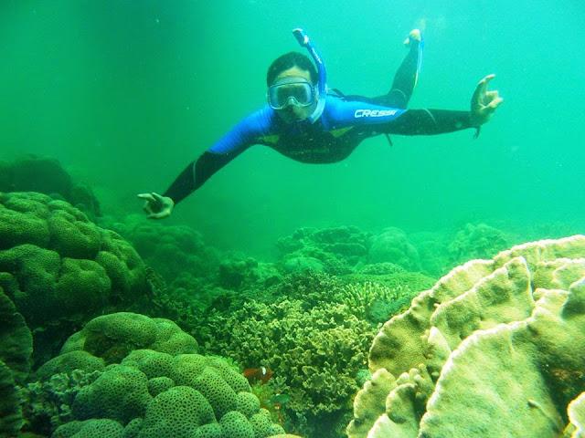 Menikmati Underwater di Angsana