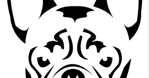 bulldog pumpkin stencil french buried treasures carve your favorite pumpkin dog 541