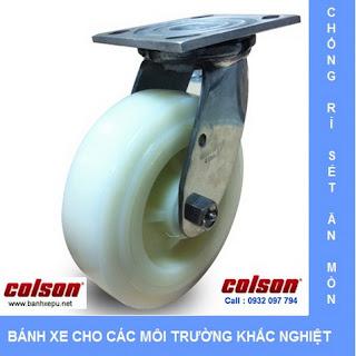 Bánh xe đẩy hàng inox bánh xe Nylon chịu tải trọng nặng | www.banhxepu.net