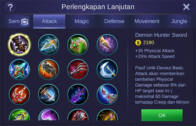 Demon Hunter Sword Mobile Legends