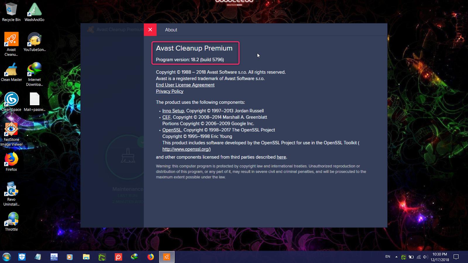 avast cleanup premium trial key