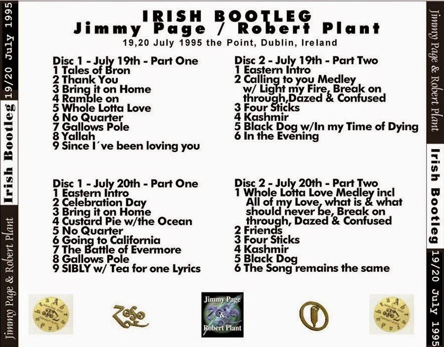 Reliquary: Page & Plant [1995.07.19 +20] Irish Bootleg