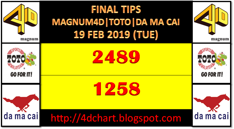 FINAL TIPS MKT SPECIAL DRAW (TUE) - 19 02 2019