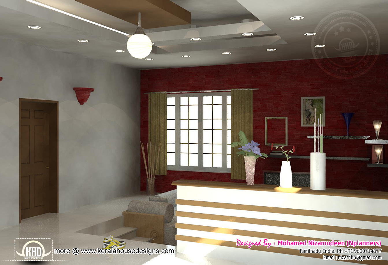 2334 sq ft south indian home design home kerala plans for Indian sitting in living room designs