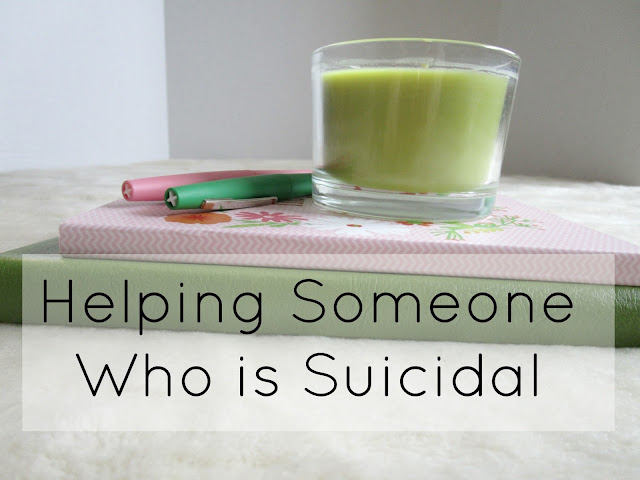 Helping Someone Who Is Suicidal | from Courtney's Little Things