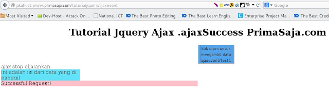 Gambar hasil tutorial jquery ajax .ajax success