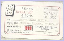 Carne de socio de la Penya Doble Set de Girona