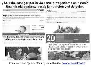 ¿Se debe castigar por la vía penal el veganismo en niños?