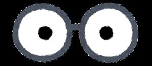 目の描かれた眼鏡のイラスト2