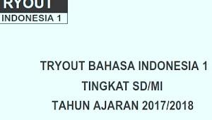 Soal Bahasa Indonesia USBN SD 2018 dan Kunci Jawaban