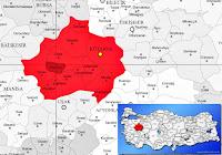 Hisarcık ilçesinin nerede olduğunu gösteren harita