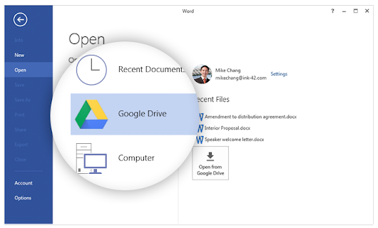 Introducing the Google Drive plug-in for Microsoft Office