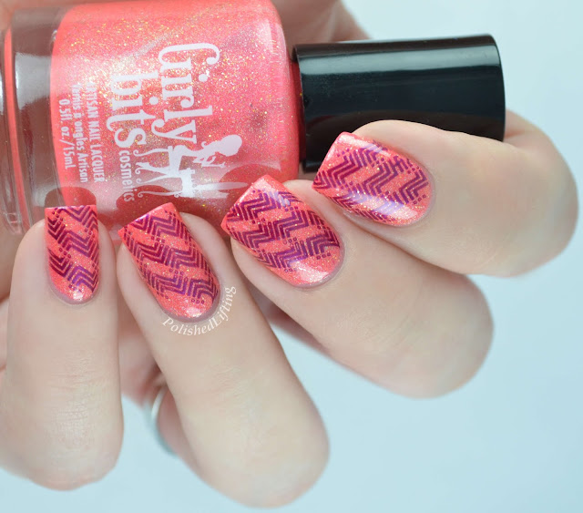 Girly Bits Polish Up All Night to Get Lucky UberChic 1-01 Sally Hansen Insta-Dri Pronto Purple
