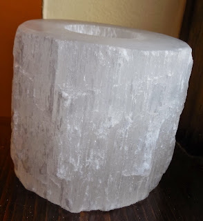 Selenite candle