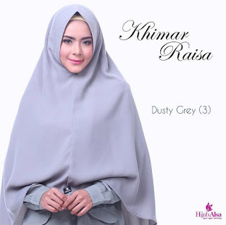 Hijab Alsa Khimar Raisa Dusty Grey