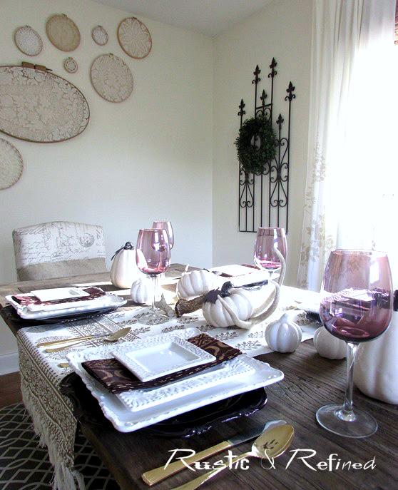 Table setting idea for Fall