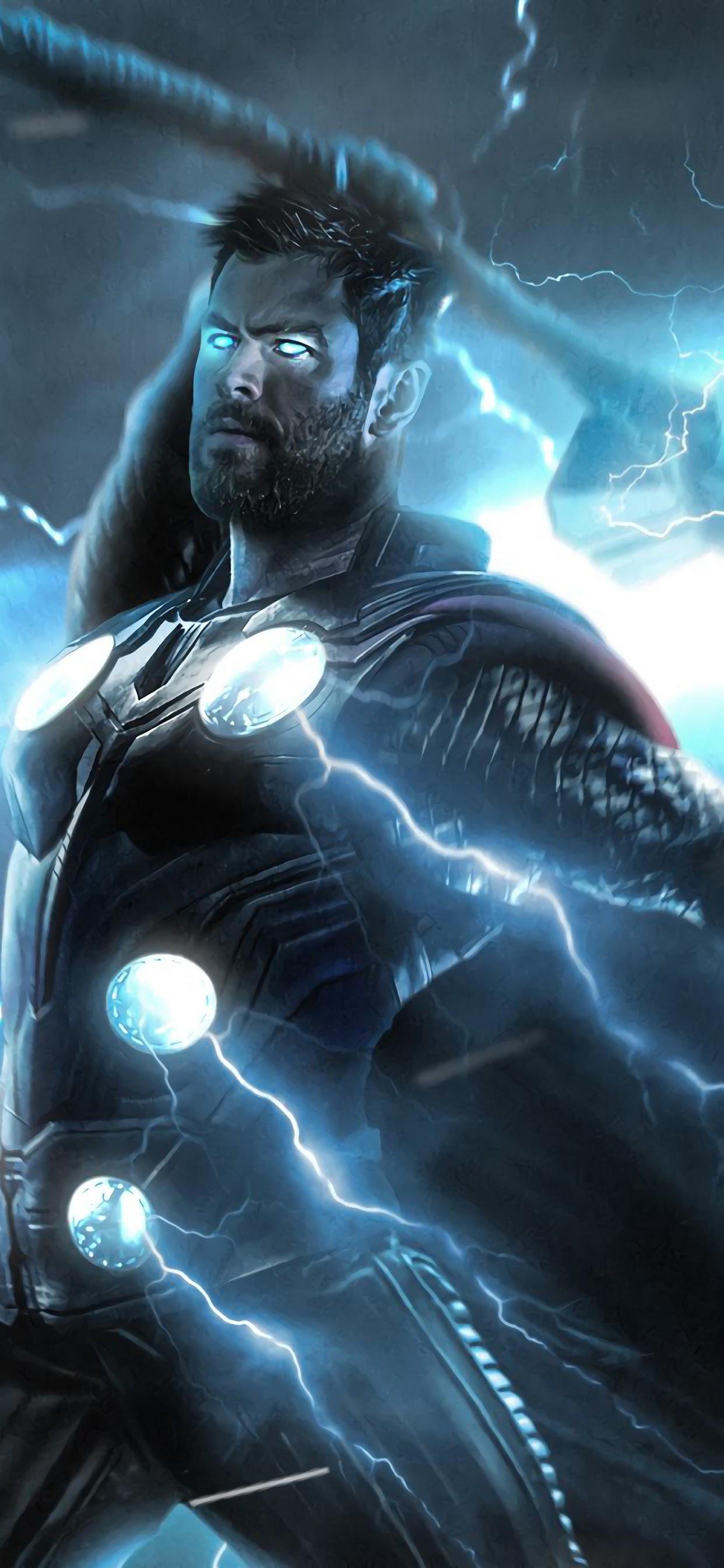 Avengers Endgame Thor Strombreaker Axe Lightning 4k