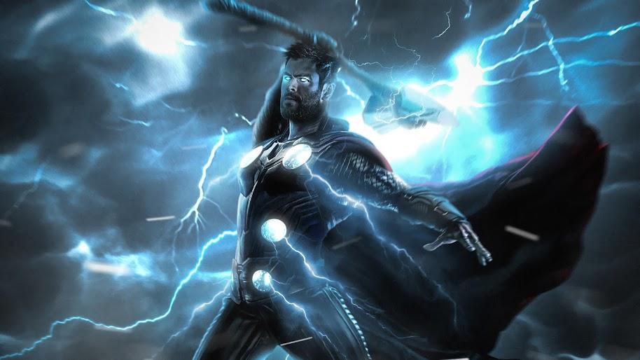 Avengers 4 Endgame Wallpapers 4k For Mobile: Avengers: Endgame, Thor, Strombreaker, Axe, Lightning, 4K