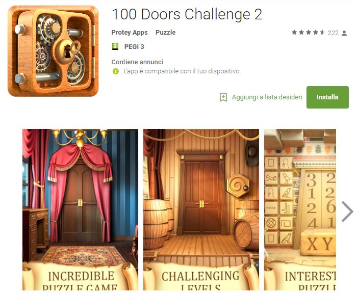 Soluzioni 100 Doors Challenge 2 livello 71 72 73 74 75 76 77 78 79 80 | Trucchi e Walkthrough level