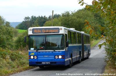Scania CN113ALB #PE085 w miejscowości Będkowice