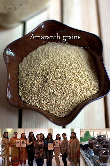 cooking with Amaranth worjshop by Sangeeta Khanna