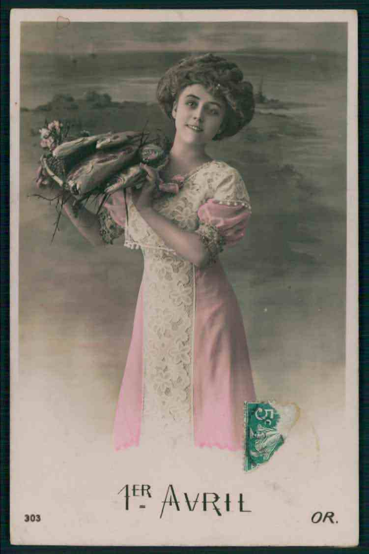 27 april fools u0027 day postcards of the 1910s featuring lucky fish