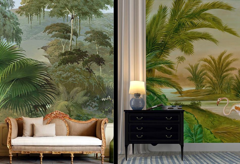 la fabrique d co tendance d co murs tropicaux et. Black Bedroom Furniture Sets. Home Design Ideas