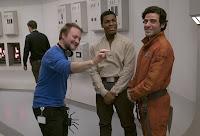 Rian Johnson, Oscsar Isaac and John Boyega on the set of Star Wars: The Last Jedi (50)