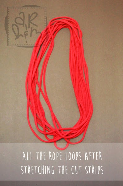 Recycled T-shirt Scarf Necklace DIY / EASY / NO SEW | A ...