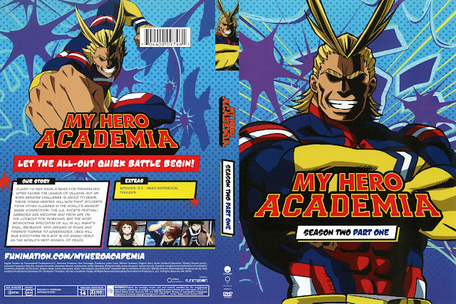 My Hero Academia Season 2 Part 1 DVD Cover