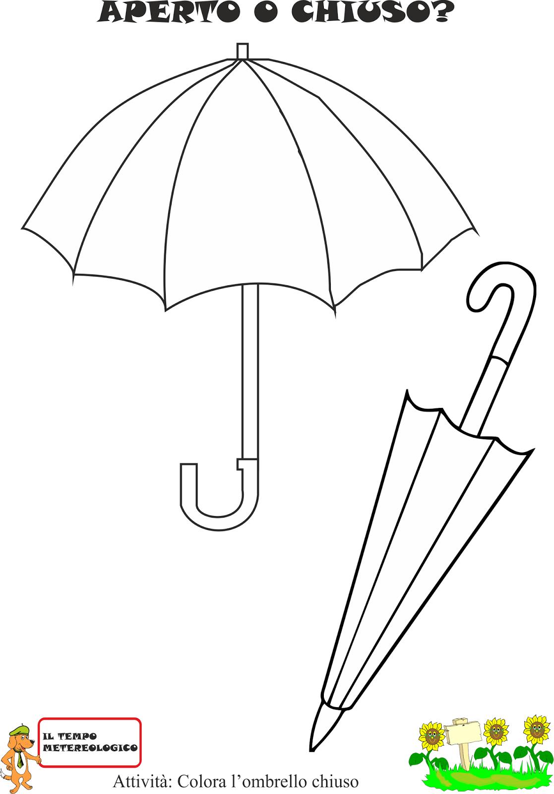 A scuola con poldo schede sulla pioggia for Maestra gemma schede inverno