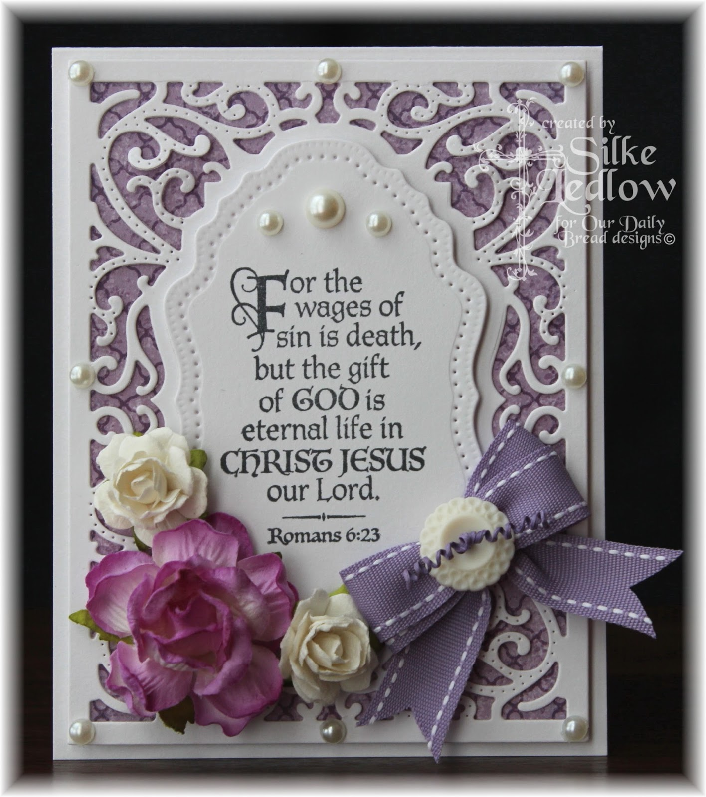 Stamps - Our Daily Bread Designs The Cross, Christian Faith Paper Collection, ODBD Custom Vintage Flourish Pattern Die