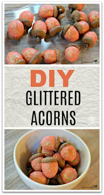 Pinterest Glittered Acorn Pin