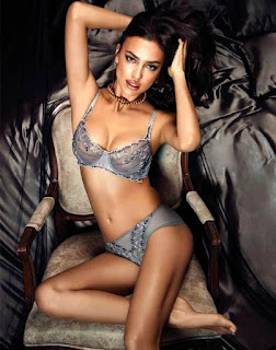 Irina Shayk In Transparent Lingerie