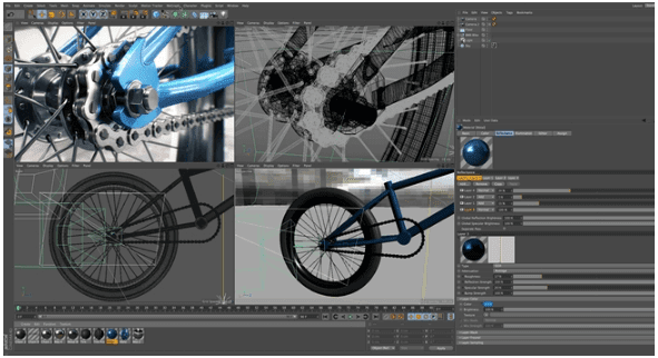 Aplikasi Animasi Cinema 4D Studio