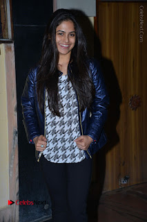 Actress Nanina Ganguly Stills in Black Tights with Vangaveeti Movie Team at Devi Theater  0005.JPG