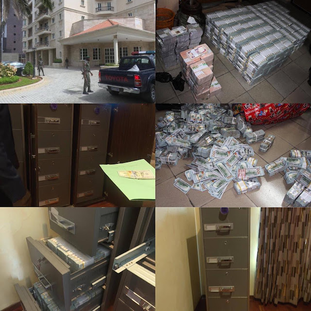 EFCC Discovered $43.4m, £27,800 and N23.2m In A Residential Building At Lagos
