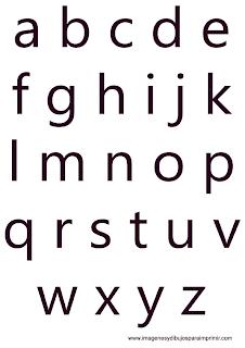 Letras para imprimir gratis
